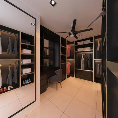 D Carton Height . Bukit Skudai Bahru . Bedroom Wardrobe Design 1