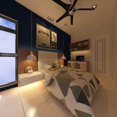 Perdana 2 Bedroom Design . Modern Color Concept Design . Interior Design Johor Bahru