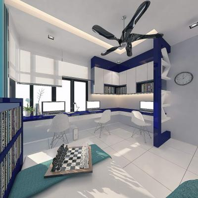 Study Room Design . Impian Height . Semi D House