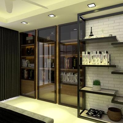 Sutera Utama Study Room Design . Display Cabinet . Book Shelf